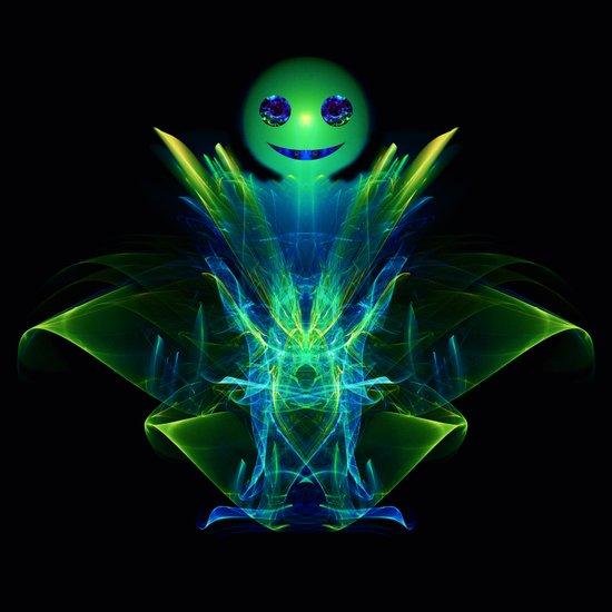 The Little Green Monster Art Print