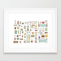 Groceries and Domestic Shit Framed Art Print