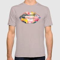 Let's Pig Out Mens Fitted Tee Cinder SMALL