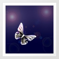 One Butterfly Art Print
