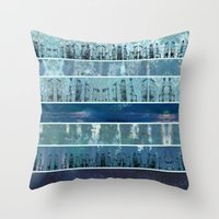 Abstract Sea City Throw Pillow