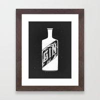 Gin - White Framed Art Print