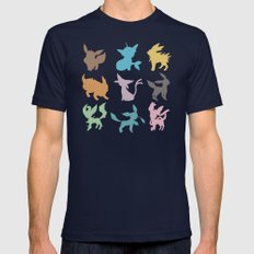 Eeveelution Mens Fitted Tee Navy SMALL