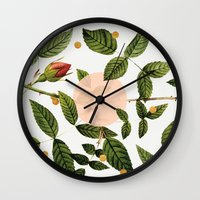 Leaves + Dots Wall Clock