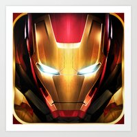 iron man Art Prints featuring IRON MAN IRON MAN by Smart Friend