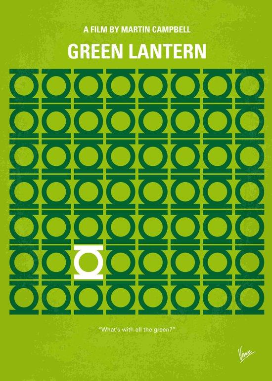 No120 My GREEN LANTERN minimal movie poster Art Print