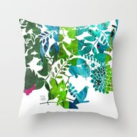 Rising Spring Throw Pillow