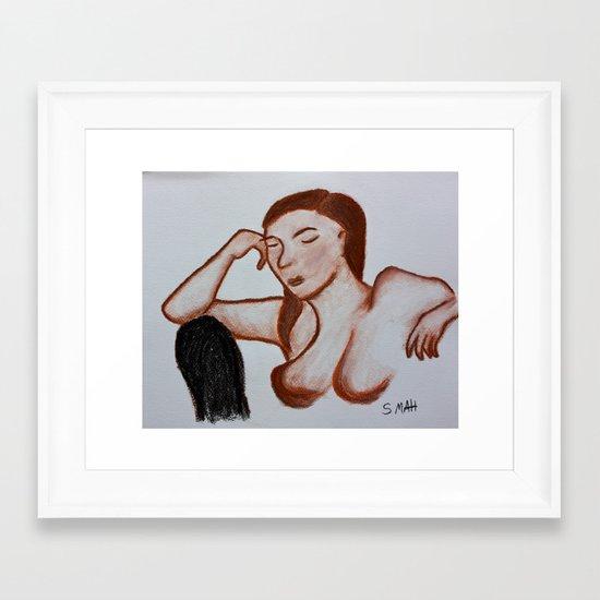 The Black Chair Framed Art Print