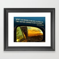 Rearview Mirror Framed Art Print