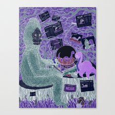 Sasquatch Hearts Nessie Canvas Print