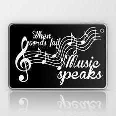 When Words Fail Music Sp… Laptop & iPad Skin