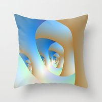 Blue Labyrinth Throw Pillow