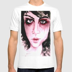 Blue Grey Eyes Mens Fitted Tee SMALL White