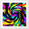Turbulently Art Print
