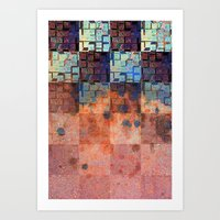 Digital Checkerboard Art Print