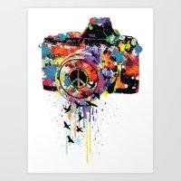 Paint DSLR Art Print