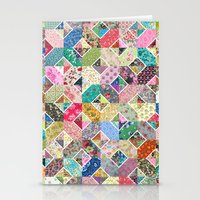 Betty's Diamond Quilt Stationery Cards