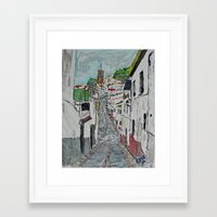 Calle En Ardales Framed Art Print