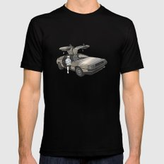 Stormtroooper in a DeLorean - star wars SMALL Black Mens Fitted Tee