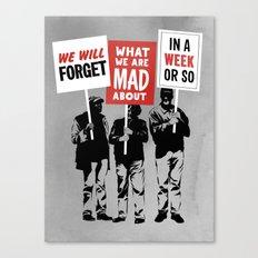 Semi-Protesting Canvas Print