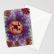 Pomegranate Poppies Stationery Cards