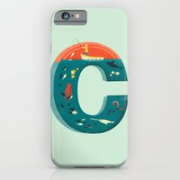 iPhone & iPod Case featuring Plenty of Fish in the C  (blue) by Jay Fleck
