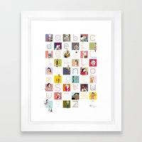 ABCdaire Framed Art Print