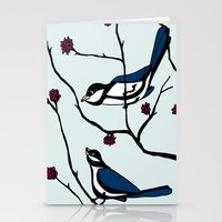 Blue Birds  Stationery Cards