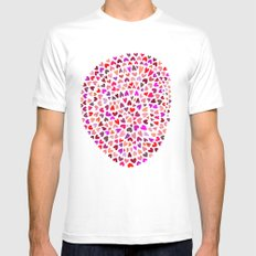 Love Pink Mens Fitted Tee White SMALL