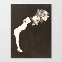 Negative Kiss Canvas Print