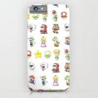 Mario Characters Watercolor  iPhone 6 Slim Case