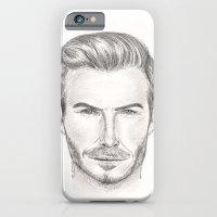 iPhone & iPod Case featuring David Beckham by Kim Jenkins