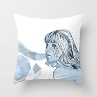 Lavender Diamond Throw Pillow