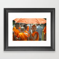 The Young Monk  Framed Art Print