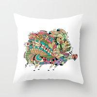 Monster Bunny Throw Pillow