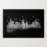 Chicago, Illinois City Skyline Canvas Print