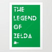 The Legend Of Zelda Art Print