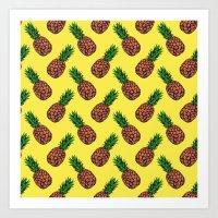 Neo-Pineapple - Mellow Y… Art Print
