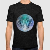 MOON BUTTERFLY Mens Fitted Tee Tri-Black SMALL