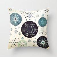 Snowflakes Part Deux Throw Pillow