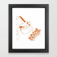 Orange Tech Framed Art Print