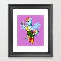 Rainbow Hawk Dash Framed Art Print