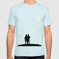 Eternity in an Evening Mens Fitted Tee Light Blue SMALL