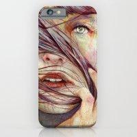 portrait iPhone & iPod Cases featuring Opal by Michael Shapcott