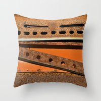 Orange Angle Throw Pillow