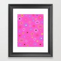 Funkadelic Flowers Framed Art Print