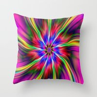 Swirling  Star Throw Pillow