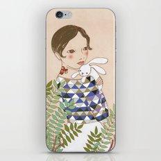 Spring bunny iPhone & iPod Skin