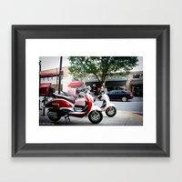 Mopeds Framed Art Print