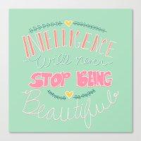 Intelligence Canvas Print